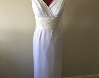 Sale! True vintage Late 40's grecian style wedding dress