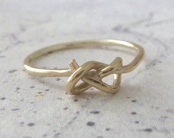 9ct Yellow Gold Knot Ring - yellow gold ring - knot ring