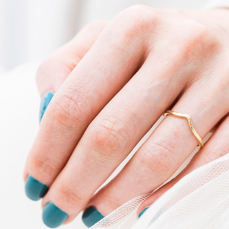 Gold Wishbone Wedding Ring 18ct Gold Wishbone Ring Gold | Etsy