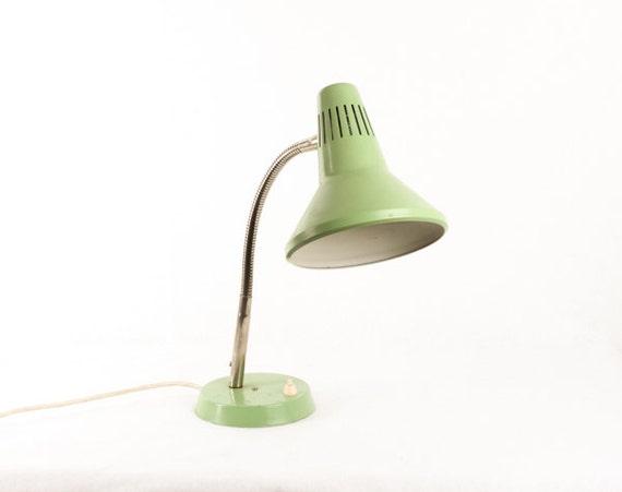 Lampe De Bureau Verte Vintage Lampe De Table Retro Goose Etsy
