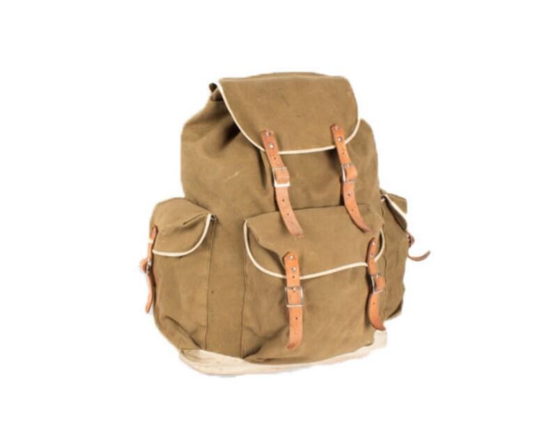 78bed18cd0cef 70. duża torba na ramię plecak wojskowy plecak retro skórzany