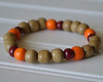 Men's Virginia Tech inspired Wooden Bracelet