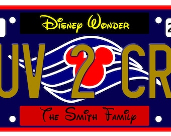 Disney Cruise Door Magnet, License Plate Love 2 Cruise, Disney Cruise Magnet, Fish Extender Gift,  Door Magnet, Cruise Magnet,  Door Decor