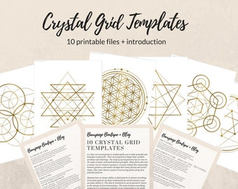 Crystal Grid Template Sacred Geometry Pattern Gold Healing Patterns Files