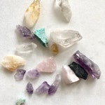 Raw Crystal Bundle. Set of Crystals. Bulk Healing Crystal Kit. Travel Set Raw Mix Crystals. Chrysocolla Citrine Rose Quartz  Crystal Quartz