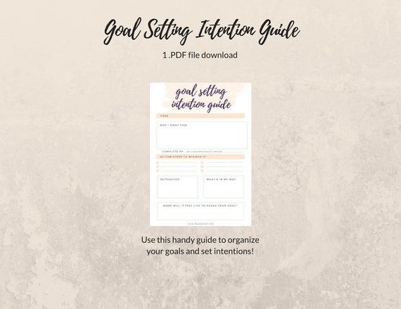Goal Setting Printable Manifestation Guide Intention Setting Etsy