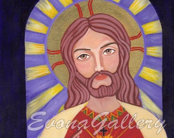 The Sacred Heart of Jesus,  Wall Decore by EvonaGallery