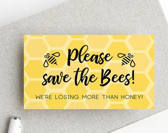Please Save The Bees Business Card
