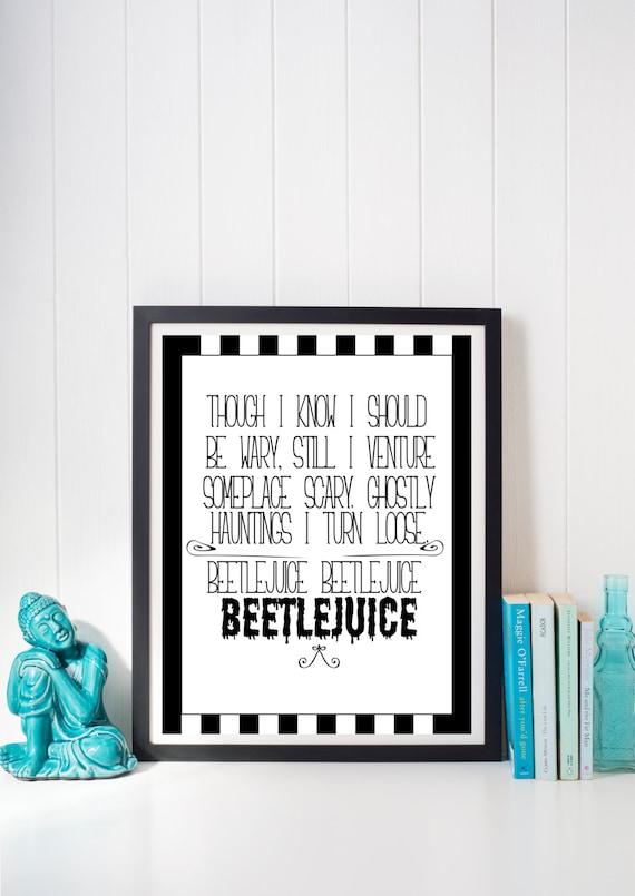 Beetlejuice Summon Quote Halloween Instant Digital Print Etsy