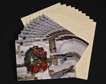 Box of 10 - Wreath Greeting Cards