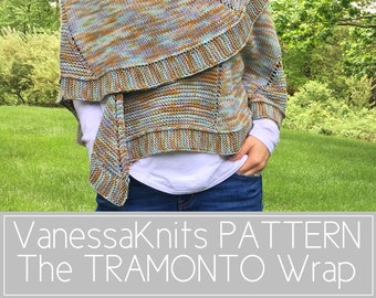 KNITTING PATTERN - The TRAMONTO Wrap // Easy Summer Knit // BettaKnit Collaboration Project