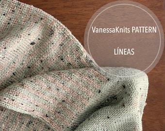 KNITTING PATTERN - LÍNEAS // Fingering Weight // Infinity Scarf Cowl // Written Pattern // Level: Intermediate
