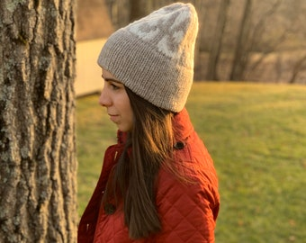 KNITTING PATTERN // The Quick One // Double Brim Colorwork Beanie - Toque // Includes Written & Charted Directions