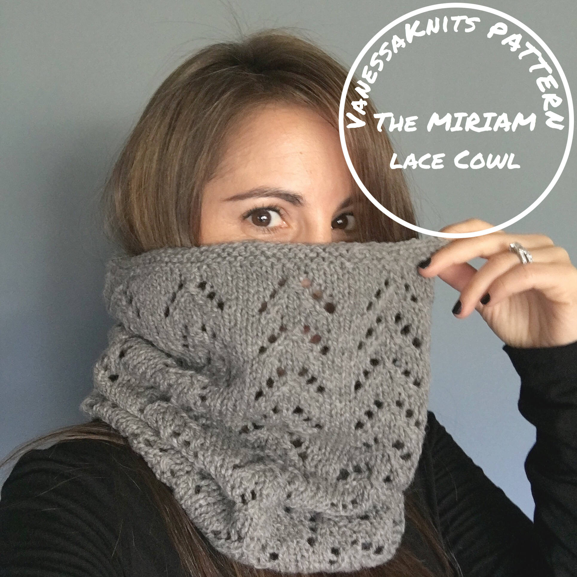 KNITTING PATTERN - The MIRIAM // Classic Lace Cowl // Includes ...
