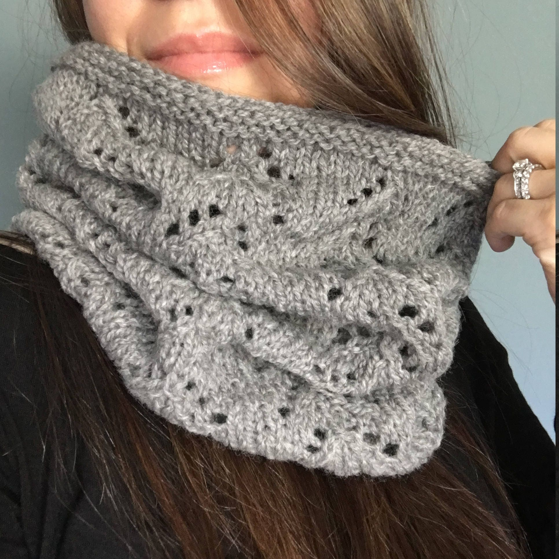 KNITTING PATTERN - The MIRIAM // Classic Lace Cowl ...