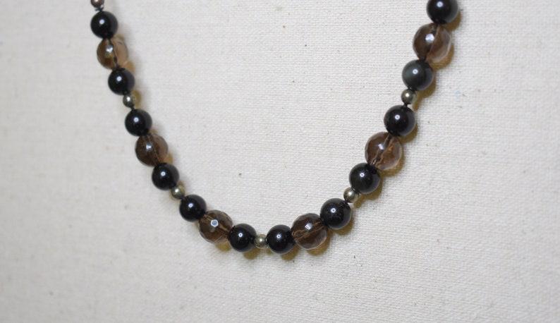 black obsidian smoky quartz prosperity financial abundance manifestation choker pyrite