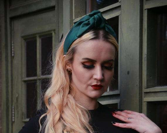 Green Turban - Silk Knot Headband