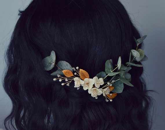 Sophia - Gold Leaf Haircomb
