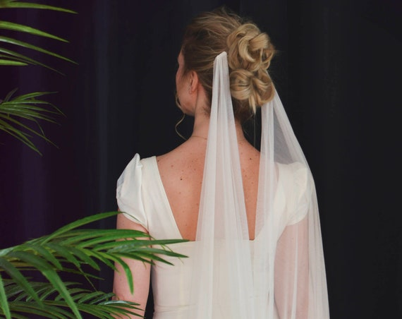 Silk Draped Wedding Veil