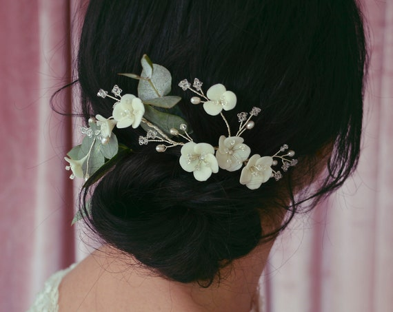 Olivia - Floral Hairpiece