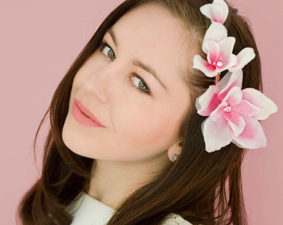 Magnolia Hair Flowers