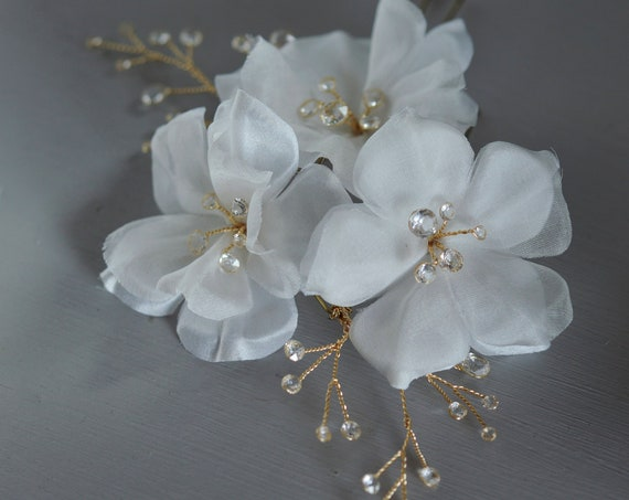 Silk Flowers - Bridal Hair Pins
