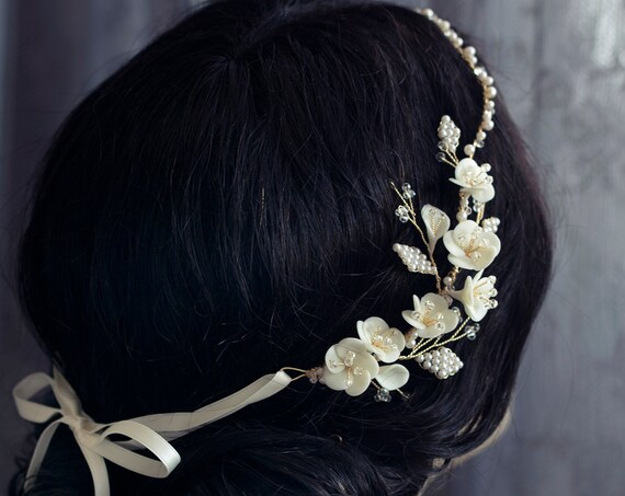 Victoria - Bridal Crystal Hair Vine