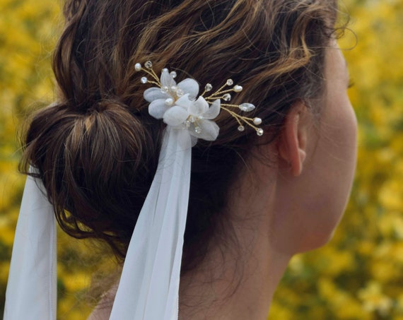 Bridal Crystal Hair Pin - Brude hårpynt