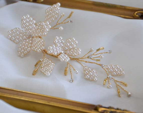 Bridal Headpiece - Gold Hair Vine