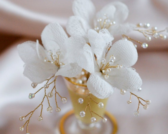 Floral Hair Pins - Wedding Hair Jewelry