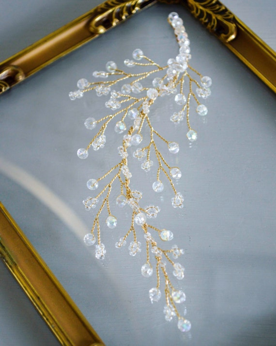 Crystal Hair Vine - Bridal Hair Accessories - Crystal Branch -Bridal Headpiece - Crystal Hair Comb