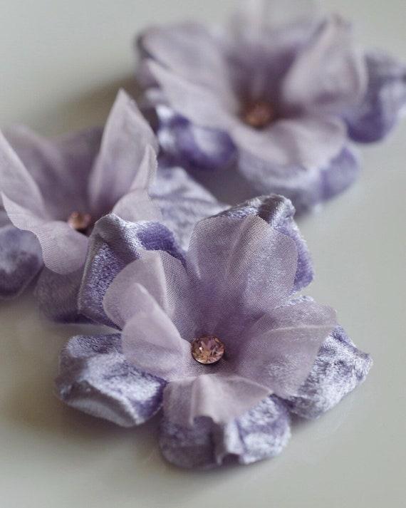 Hair Pins, Lavender Flowers, Bridesmaid Gift, Flower Hair Clip, Bridesmaid Proposal, Hair Accessories, Lavender Wedding, Flower Girl