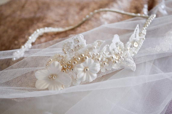 Bridal Headpiece, Bridal Headband, Gatsby Wedding, Wedding Hairpiece, Hair Jewelry, Beaded Headbad, On Sale