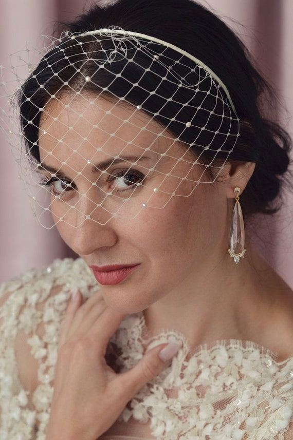 Ava - English Netting Birdcage Veil