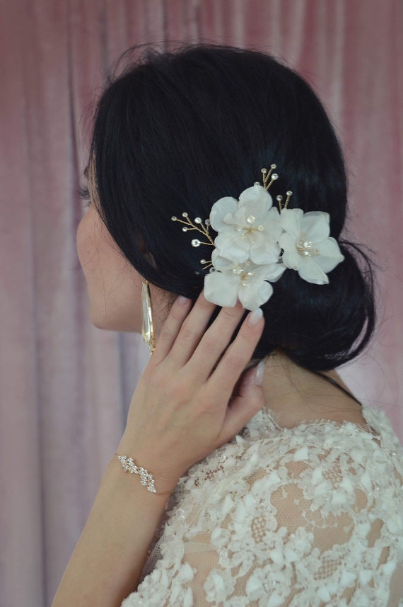 Silk Flowers - Bridal Hair Pins