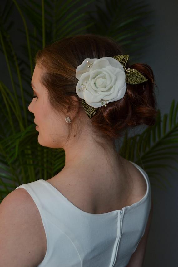 Pince A Cheveux Rose Blanc Fleurs A Cheveux De Mariee Des Annees