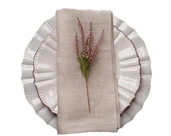 plain linen napkins - linen napkins set - natural grey napkins - rustic wedding napkins - non dyed napkins - set of linen napkins