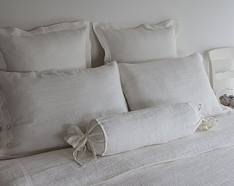 LINEN QUEEN BEDDING - queen duvet set - white duvet set - queen bedding linen - queen bedding white - linen bedding white - usa queen set