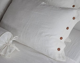 Double LINEN BEDDING - Full linen bedding - white linen bedding - full bedding white - full duvet set - linen duvet set - white duvet set