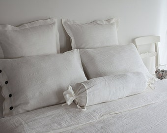 QUEEN BEDDING SET: white queen set - duvet set queen - usa queen set - white linen bedding - white duvet set - queen bed linen