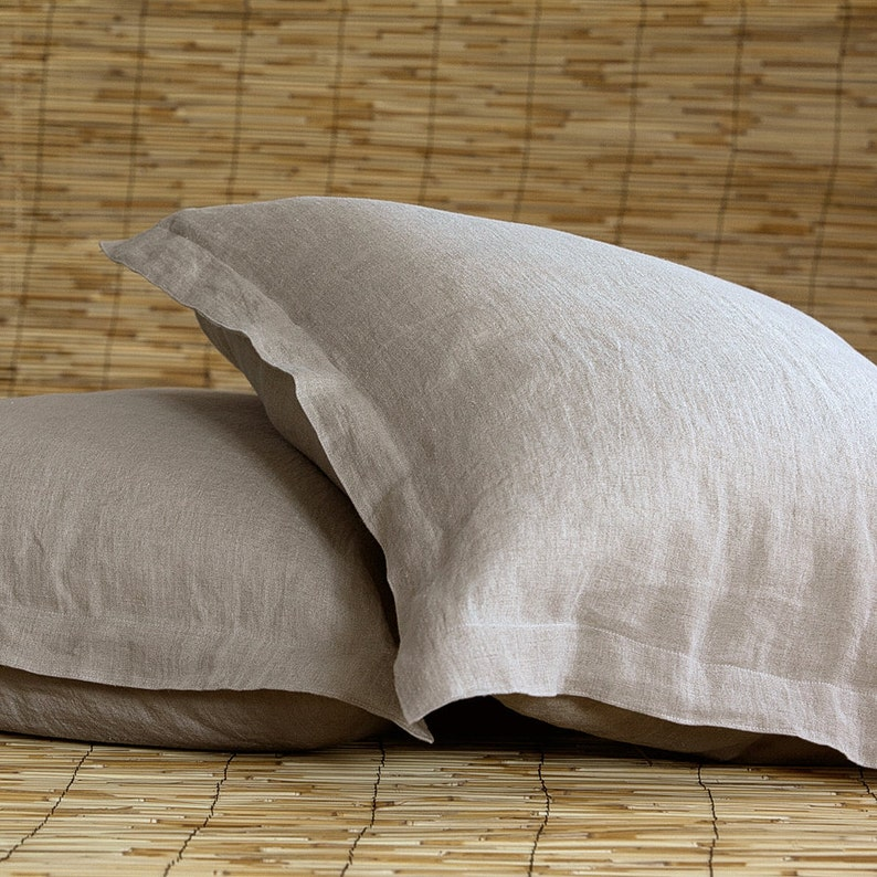 Bed pillow cases natural pillow cases linen pillow cases standard pillow cases bed pillow shams flanged pillow cases linen bedding