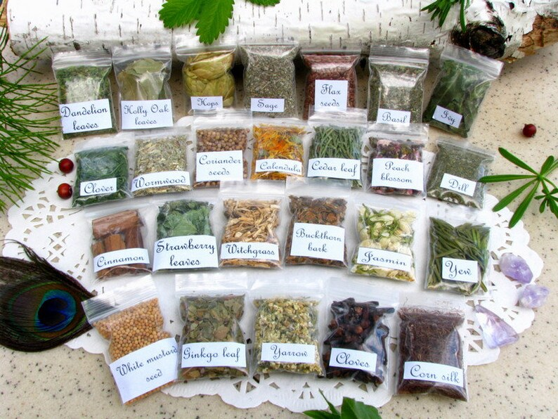 25 Witch apothecary herb bags, Wiccan herbs, Wicca starter kit, Witchcraft  supply, Pagan magic ritual herbs #2