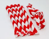 Red Chevron Hair Rollers/ Soft Fabric Rollers/Hair Curlers/Hair Accessories/ Bun Maker /Fabric Donut