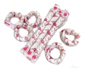 Pink Flamingo 3/4 inch Hair Rollers / Hair Accessories /Soft Hair Curlers