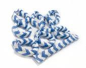 Sky Blue Chevron Hair Rollers/ Soft Fabric Rollers/Hair Curlers/Hair Accessories/ Bun Maker /Fabric Donut