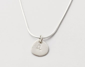 Zodiac Pendant in Sterling Silver - Minimalist Astrological sign necklace with chain