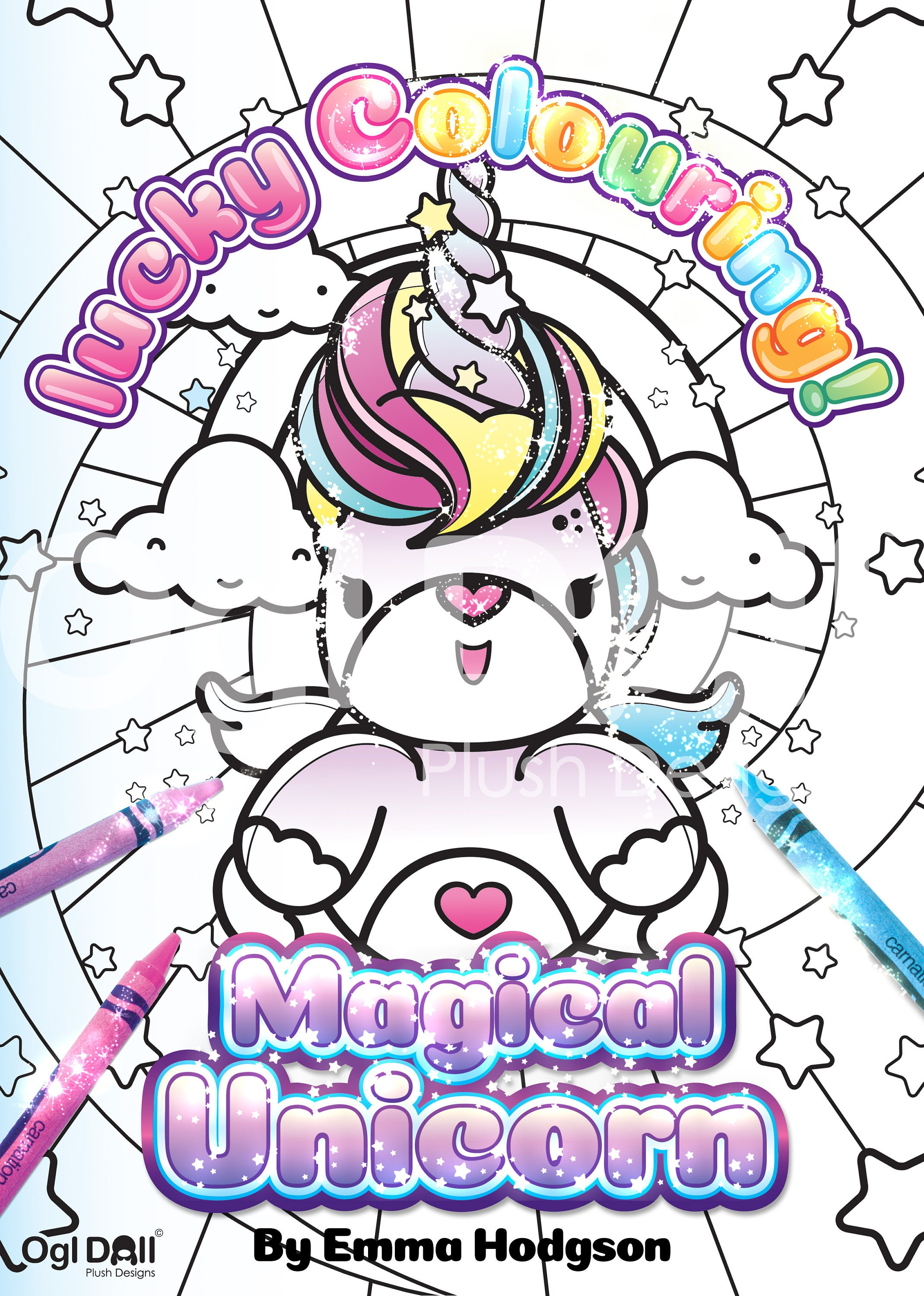 Unicorn Coloring Page Digital Download Colouring Sheet ...