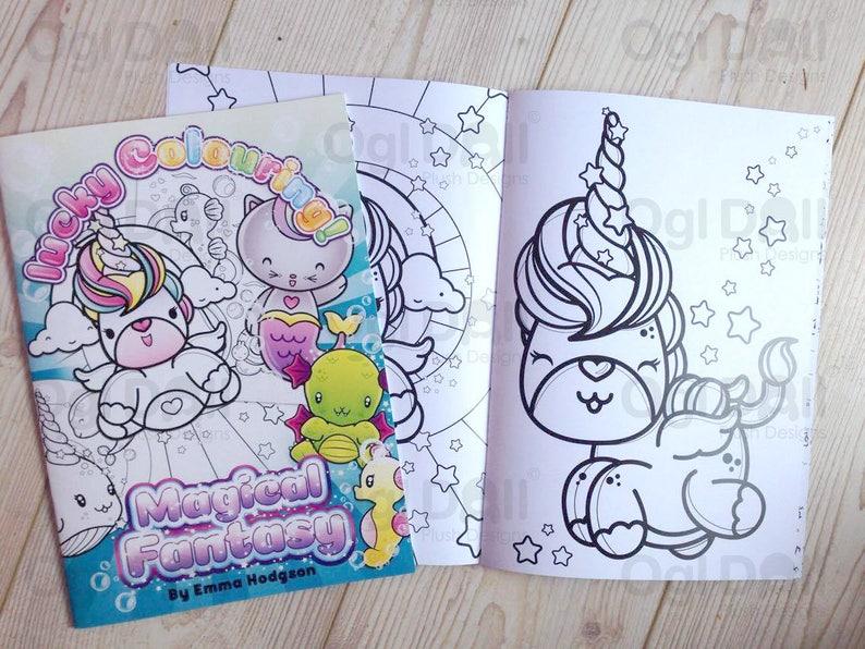 Colorazione Pagine Da Colorare Kawaii Unicorn Tema Partito Etsy