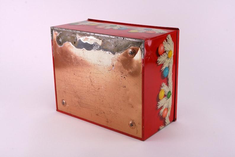 Vintage Italian Christmas panettone tin