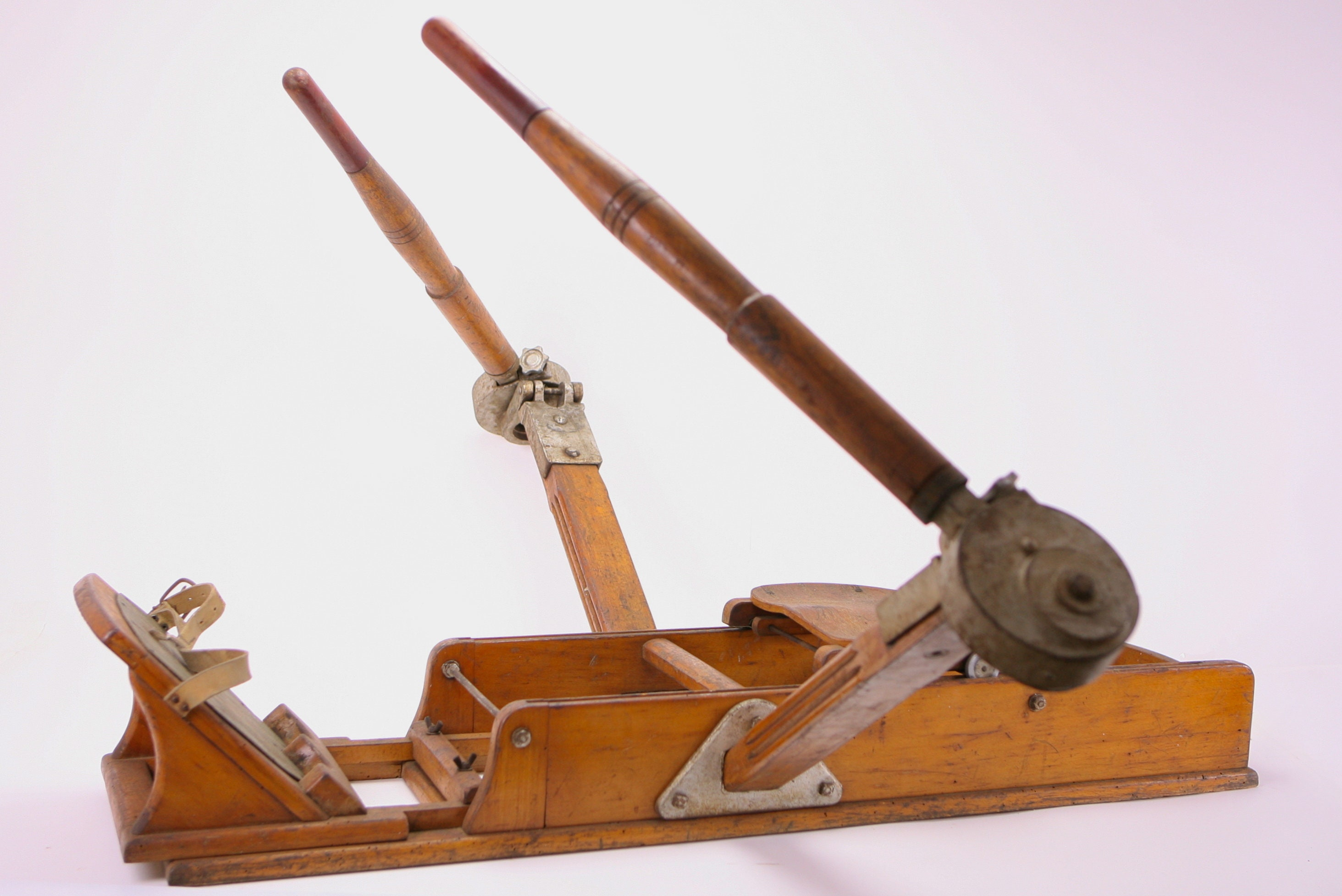 Vintage Lamborghini Italian Wooden Rowing Machine 1940s Free Shipping